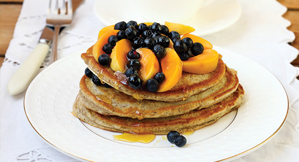 Fluffy Flax Pancakes