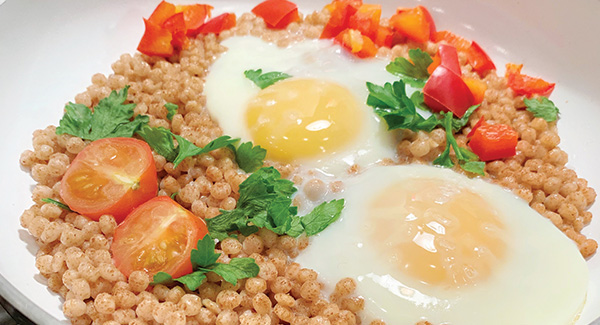 Low-Sodium Couscous Sunny-Side Up
