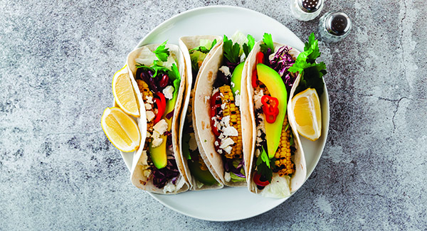Two-Ingredient Black Bean and Corn Tacos