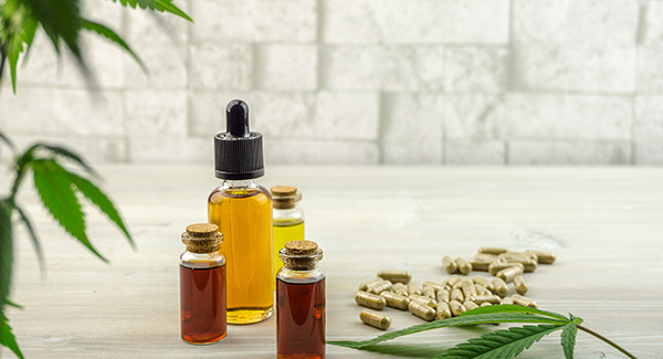 various bottles of cbd oil