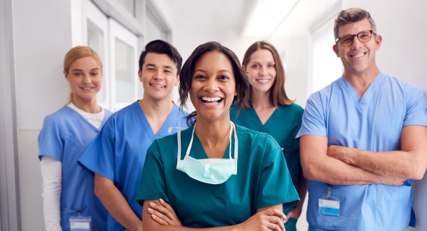 A group of doctors working together